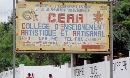 Concours d'entrée au CEAA de Kpalimé